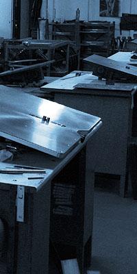 Vysekávací nože - výrobní stoly